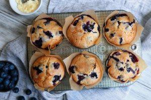 Buttermilk Blueberry Breakfast Muffins